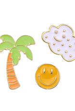 With love Set of 3 pins tropical