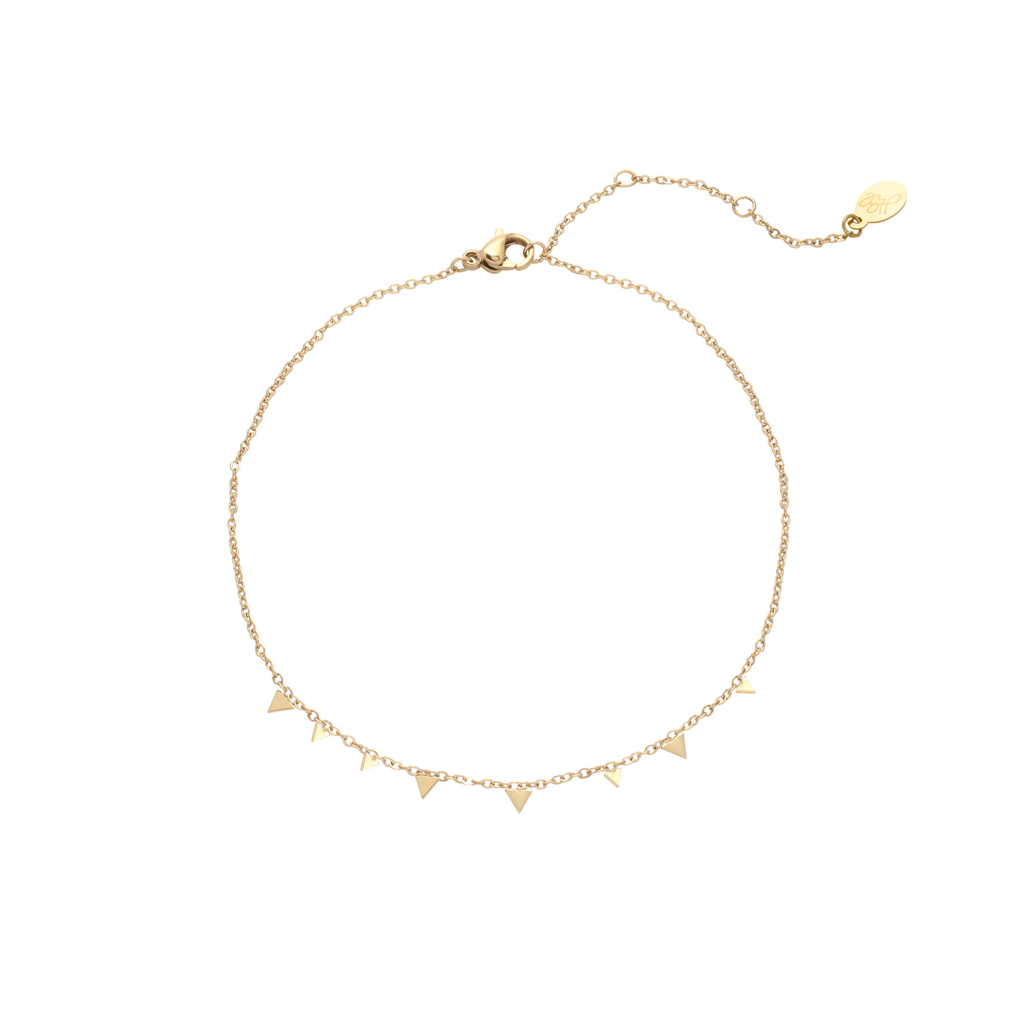 With love Bracelet triangle confetti gold