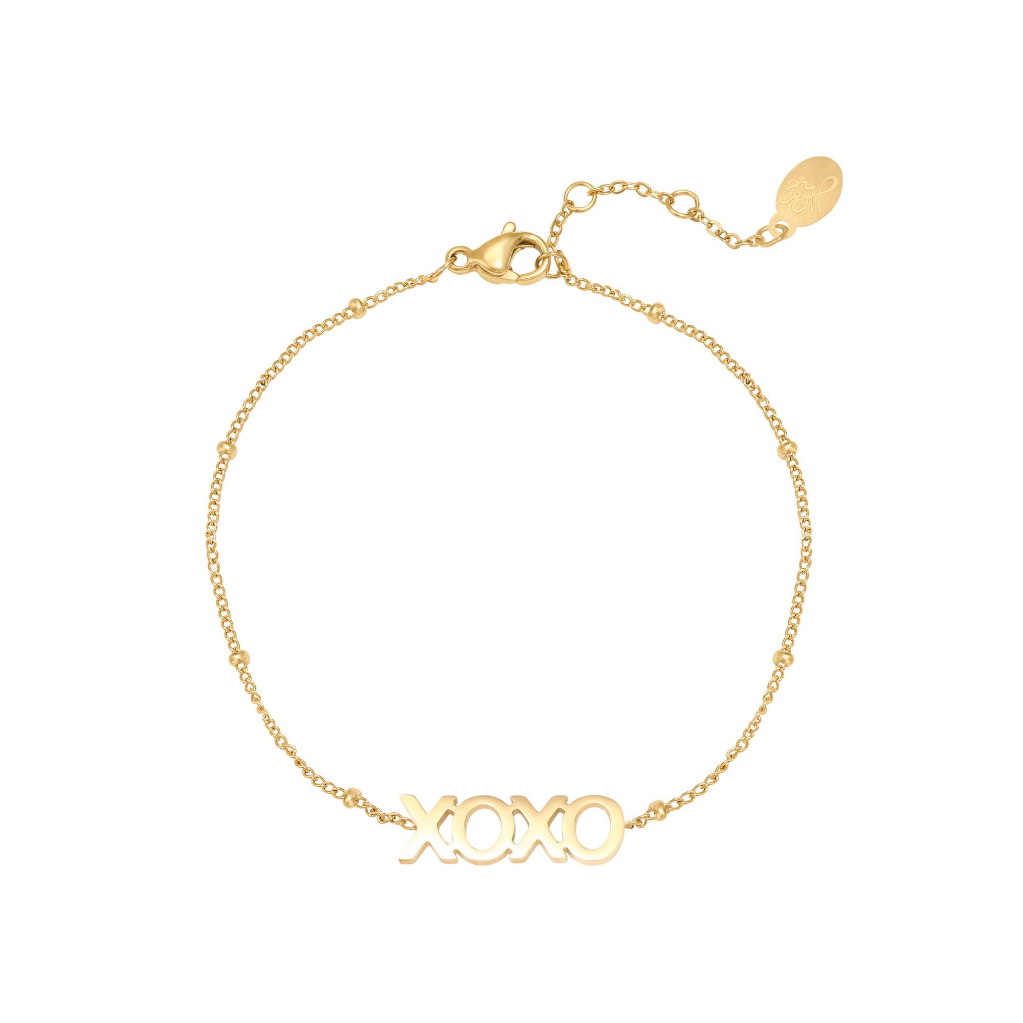 With love Bracelet dottet XOXO