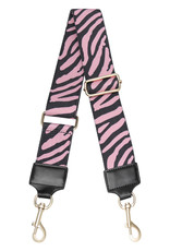 With love Bag strap Zebra pink