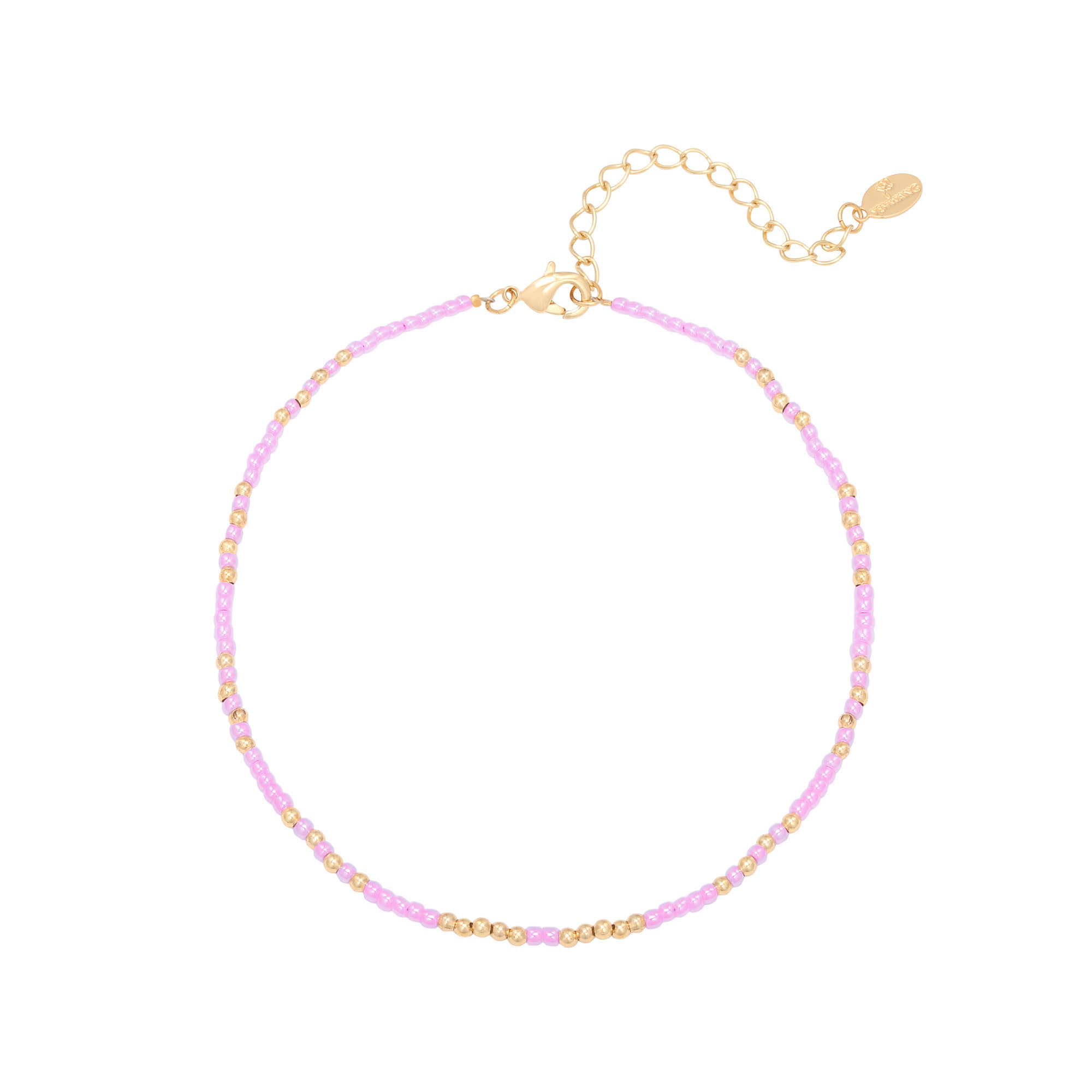 With love Anklet mystic beads - lila