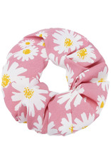With love Scrunchie daisy flowers - pink
