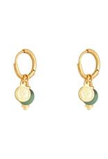 With love Earrings disco ball green