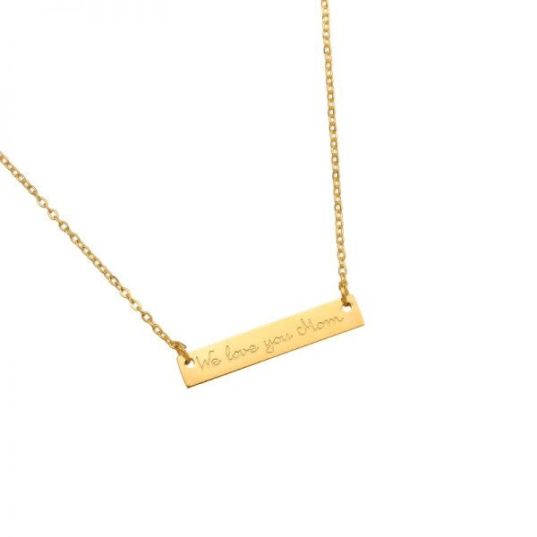 With love Necklace we love you mom gold