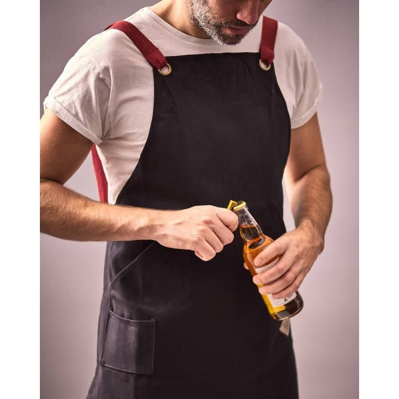 Wild + Wolf BBQ utility apron & bottle opener