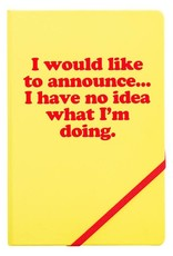 A5 notebook 'I would like to announce'