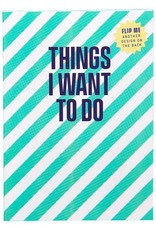 A6 mini notebook 'Things I want to do'