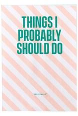 Wild + Wolf A6 mini notebook 'Things I want to do'