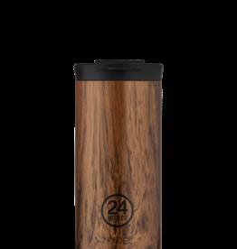 24Bottles 24Bottles travel tumbler 600 ml. Sequoia wood