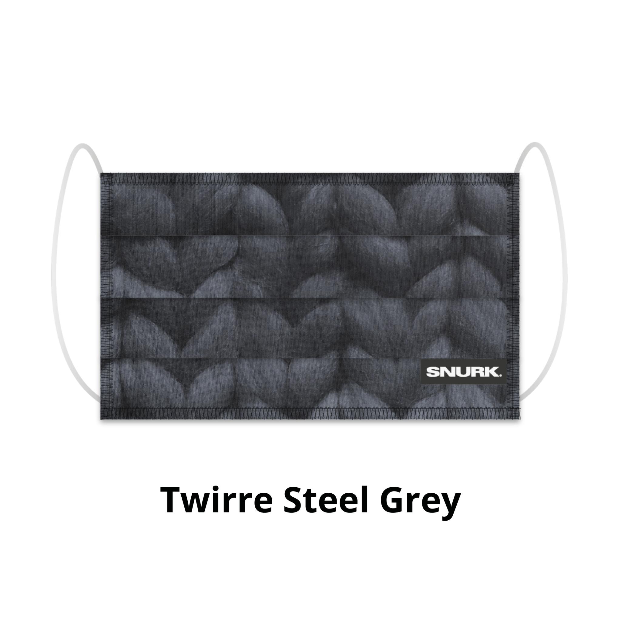 Snurk Bedding Mouth mask Snurk - Twirre steel grey
