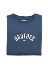 Bob & Blossom Denim blue sweater ' Brother'