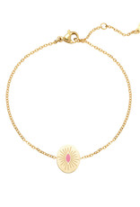 With love Bracelet sweet like candy gold - pink