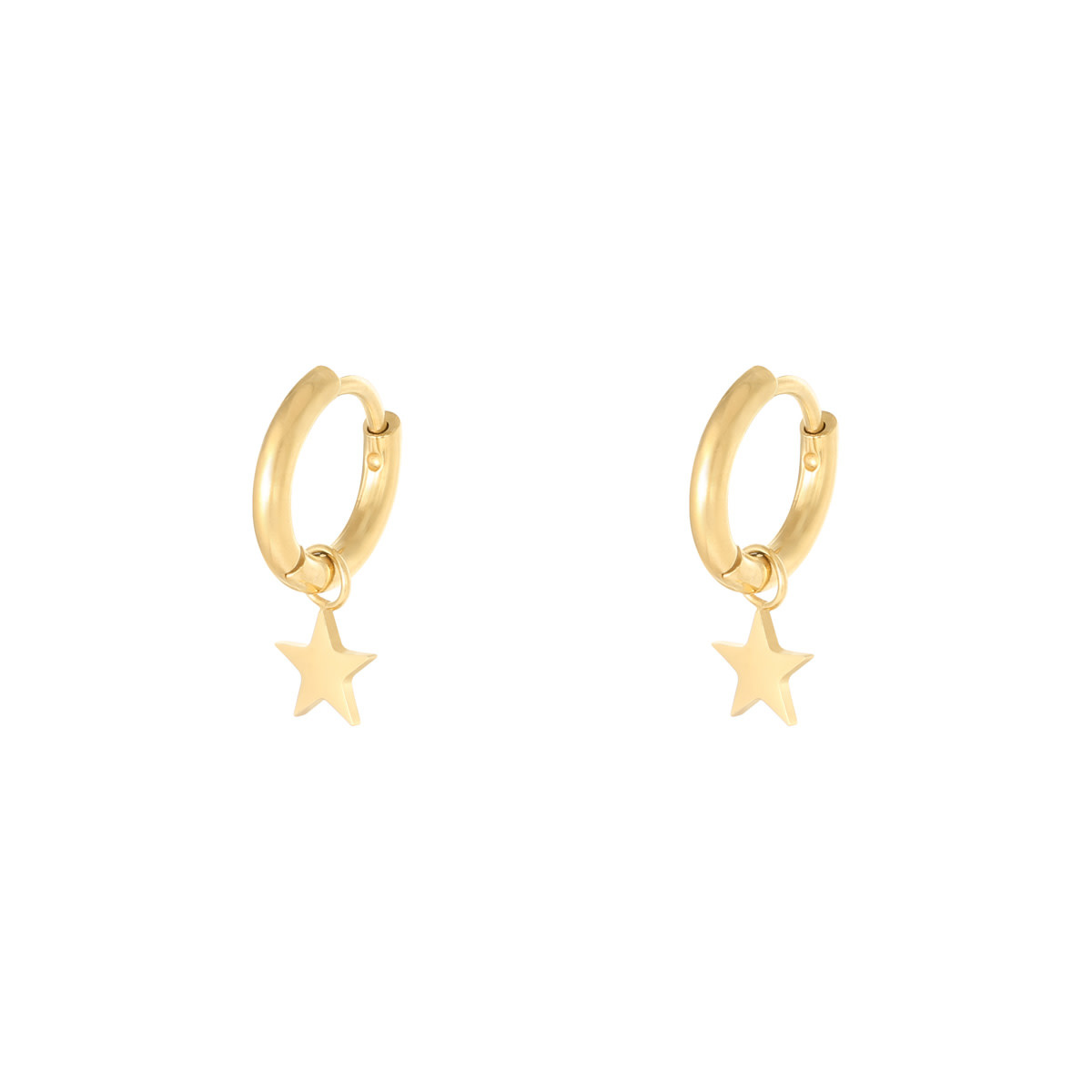 With love Earrings star gold