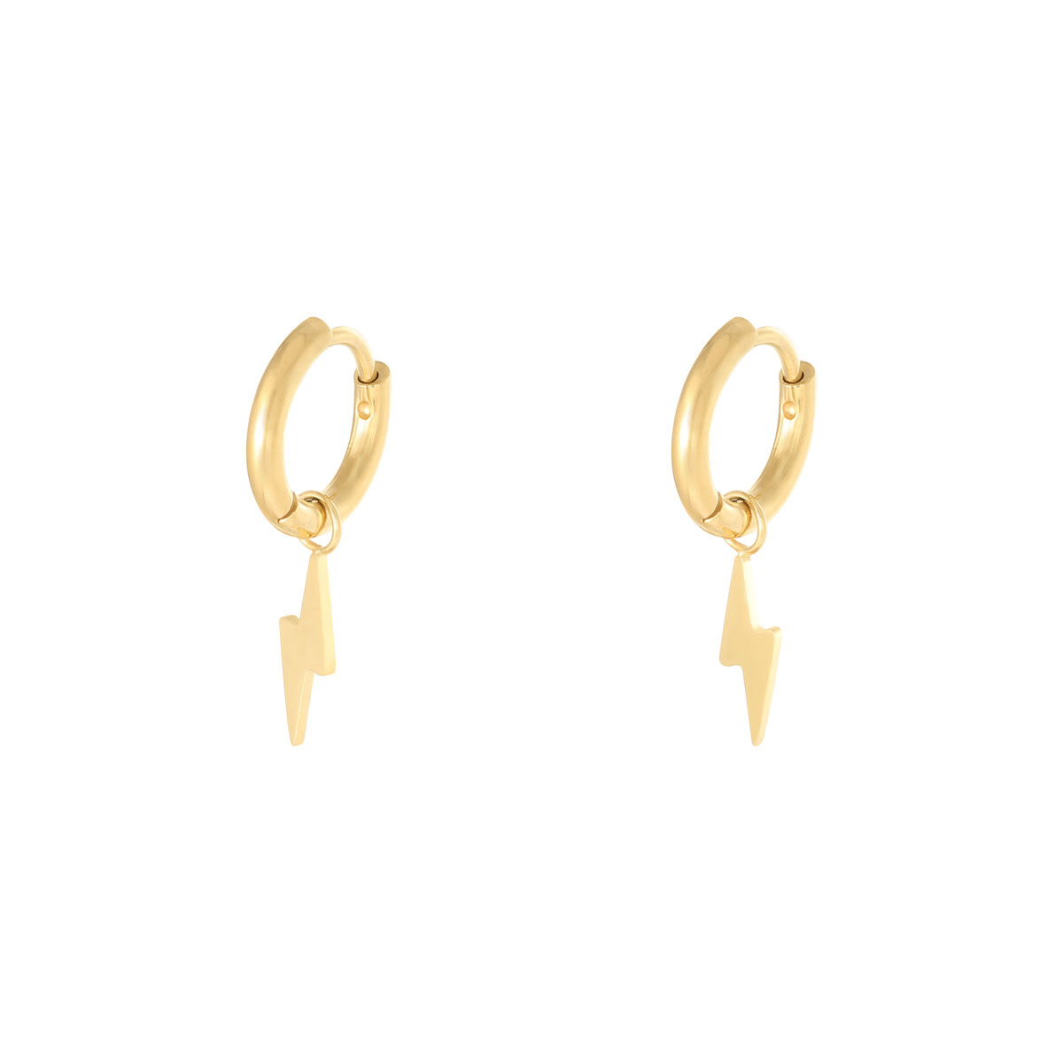 With love Earrings bolt gold
