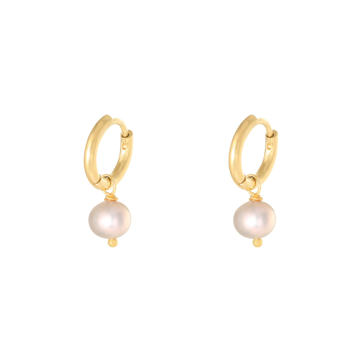 With love Earrings pearl of the sea - pink