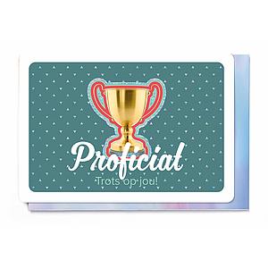 Enfant Terrible Enfant Terrible card + enveloppe 'Proficiat, trots op jou'
