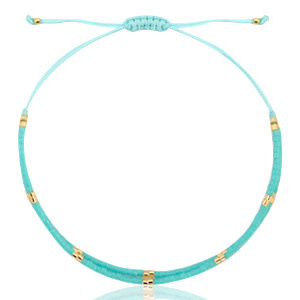 With love Bracelet miyuki pearls turquoise