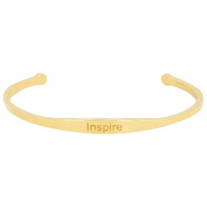 With love With love open bangle gold - Inspire
