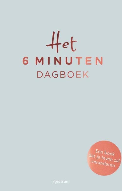 Lannoo Uitgeverij Het 6 minuten dagboek