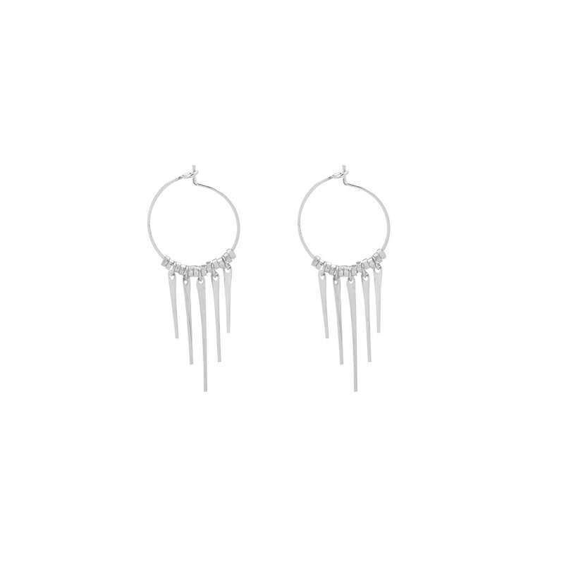 With love Earrings tiny spikes silver