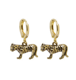 With love Earrings Wild tiger