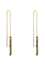 With love Earrings little stones - gold