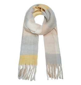 With love Scarf checkered grey