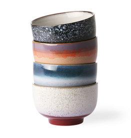 HK Living Ceramic 70's noodle bowls (set of 4) 13,5x13,5x8cm