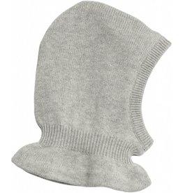 Wheat Knitted Balaclava - grey melange