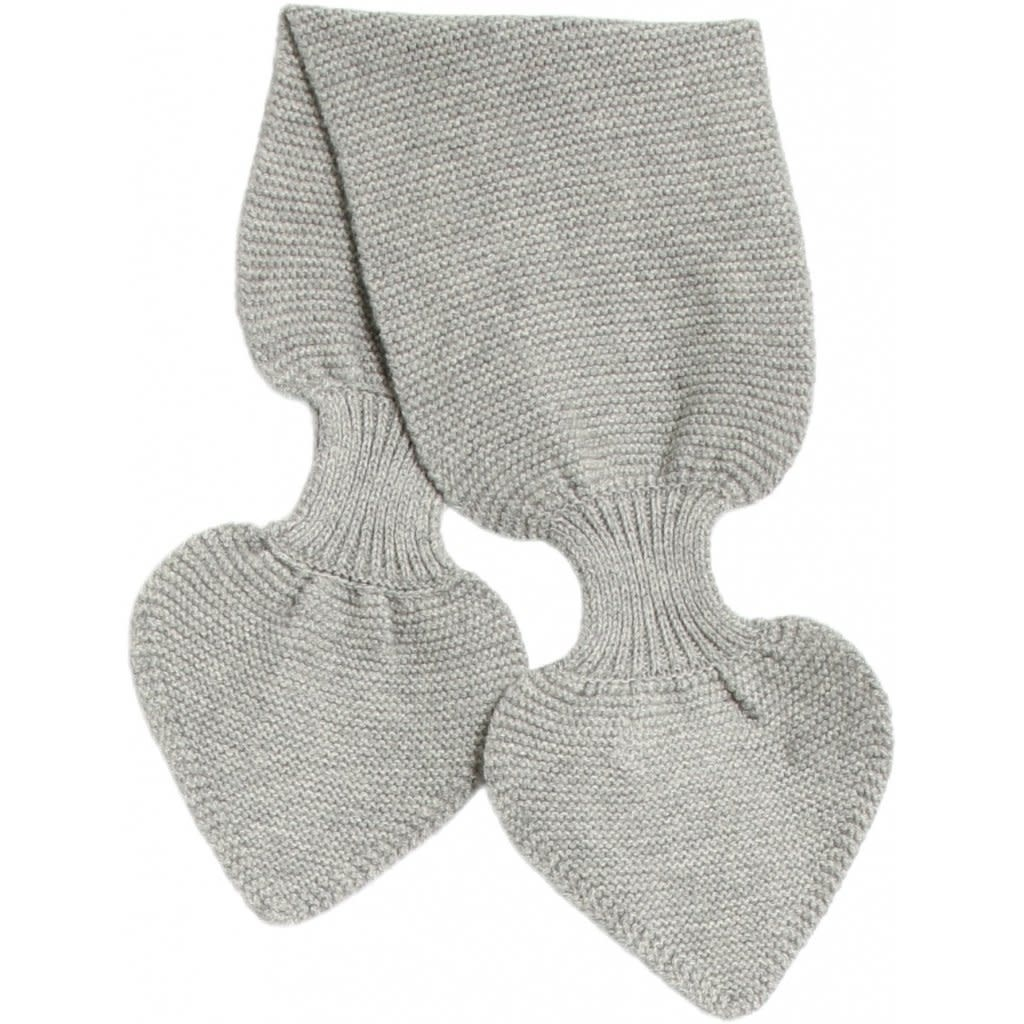 Wheat Knitted baby scarf - grey melange