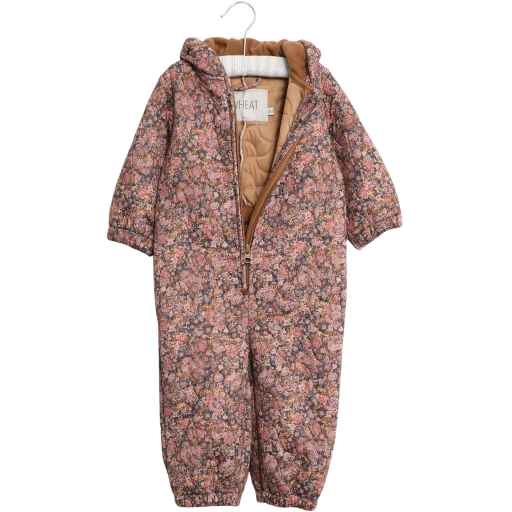 Wheat Thermosuit Harley - dusty rouge flowers