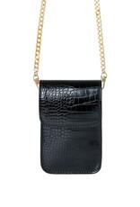 With love Bag croco on me - black  11.50cm x 4cm x 19cm