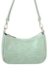 With love Handbag croco - Mint green 20 x 14 cm