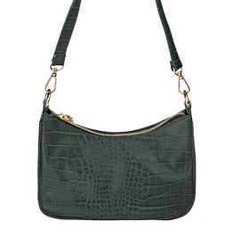 With love Handbag croco - Dark grey 20 x 14 cm