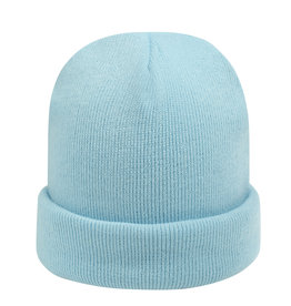 With love Beanie rainbow colors - light blue