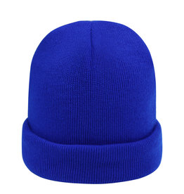With love Beanie rainbow colors - cobalt blue