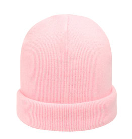 With love Beanie rainbow colors - light pink