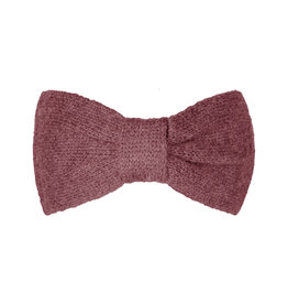 With love Headband cozy bow - burgundy