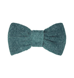 With love Headband cozy bow - dark green