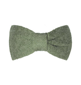 With love Headband cozy bow - khaki green