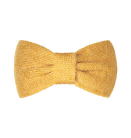 With love Headband cozy bow - yellow ochre