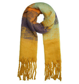 With love Scarf 'keep me warm'  yellow ochre