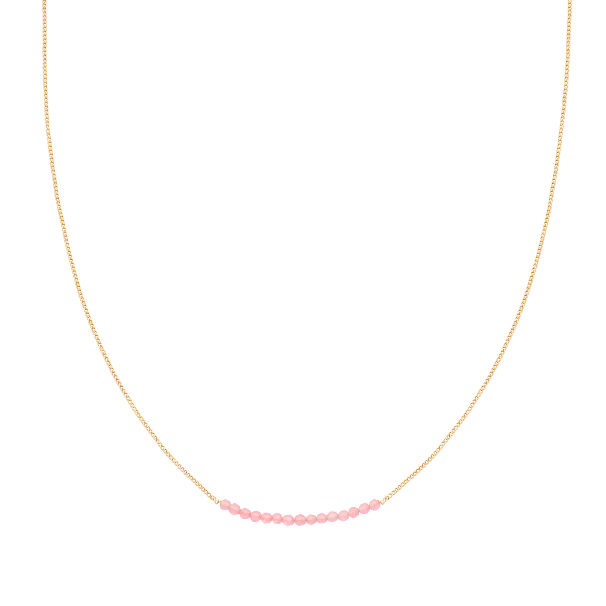 With love Necklace happy beads - pink