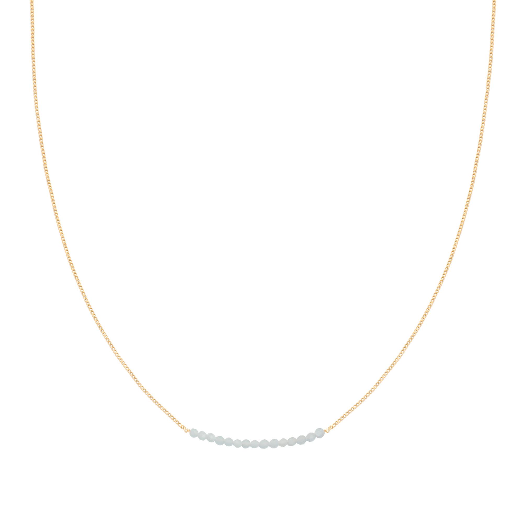 With love Necklace happy beads - aqua