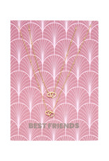 With love Necklace set 'Best friends' gold