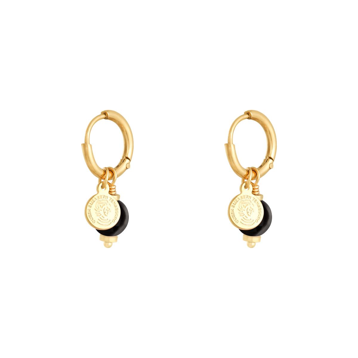 With love Earrings disco ball black