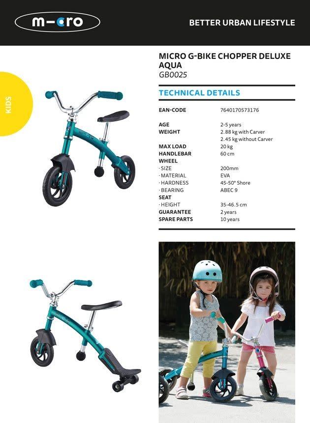 Micro Mobility G-Bike chopper deluxe Aqua