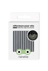 Micro Mobility Rainette wheel spoke reflectors - silver