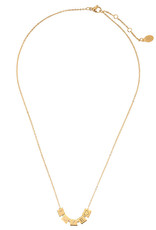 With love Necklace Love blocks gold