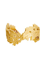 With love With Love ring - wavy leaf gold